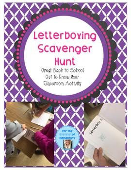 Letterboxing Scavenger Hunt