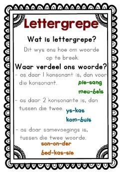 Lettergrepe By Raak Slim In Afrikaans Teachers Pay Teachers