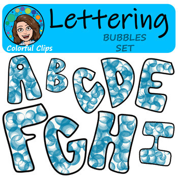 Bubble Lettering - Colorful Clips