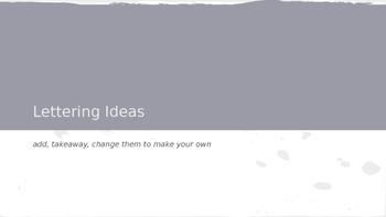 Lettering Ideas presentation