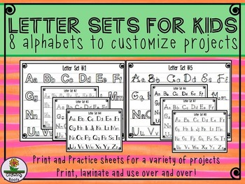 Letter Sets Indoor Recess, Illumination, Poster, Brochures