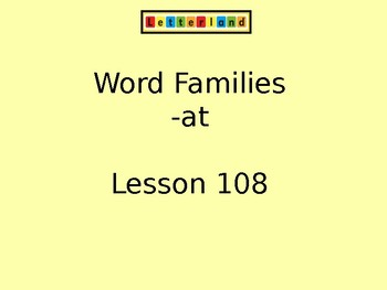 Letterland Interactive PowerPoint (Kindergarten Lessons 108-122)