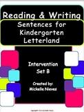 Letterland Intervention: Reading & Writing Sentences Set B for Kindergarten