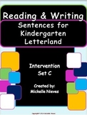 Letterland Intervention: Reading & Writing Sentences Set C for Kindergarten