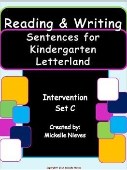 letterland intervention reading writing sentences set c for kindergarten. Black Bedroom Furniture Sets. Home Design Ideas