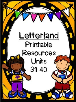 Letterland Resource Pack First Grade: Units 31-40