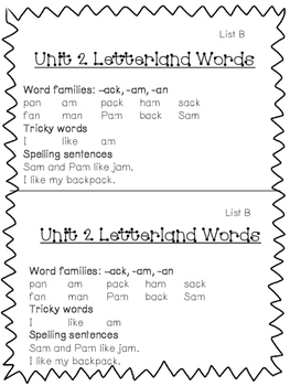 Letterland Resource Pack First Grade: Units 1-10