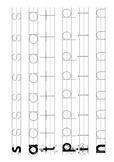 Letterland SATPIN Bingo, Handwriting, & Dice