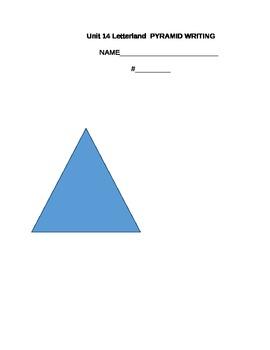Letterland Unit 14 Pyramid Writing
