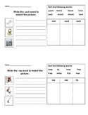 Letterland Unit 4 Word Family Practice Sheet - ock, op, ot