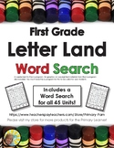 Letterland Word Search For First Grade Units 1 - 45