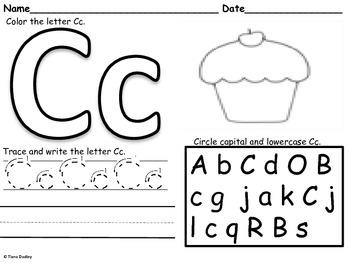 Letterlicious Letter Recognition and Writing Activity A-Z.
