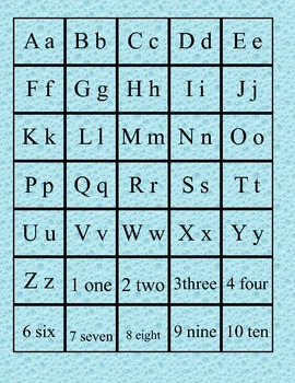 Letter/Number Matching Game