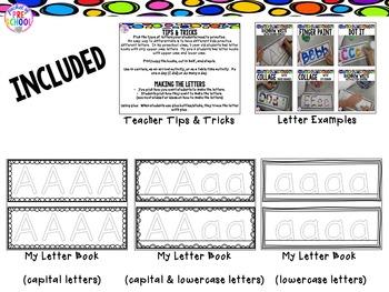 Letter Books for Preschool, Pre-K, and Kindergarten