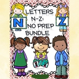 Alphabet Bundle: Alphabet Letter of the Week (Letters N to Z)