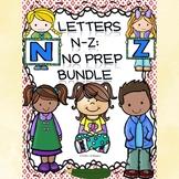 Alphabet Bundle: Alphabet Letter of the Week (Letters N to Z)