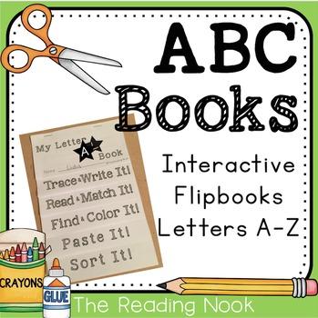 Interactive Alphabet Flip Books A-Z
