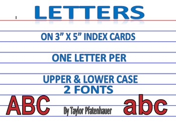 Letters - 3x5 Cards
