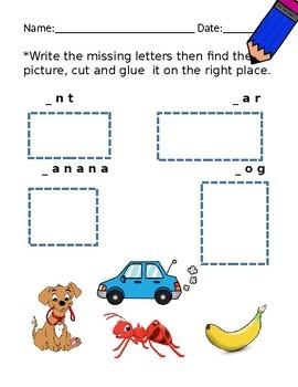 Letters A B C D