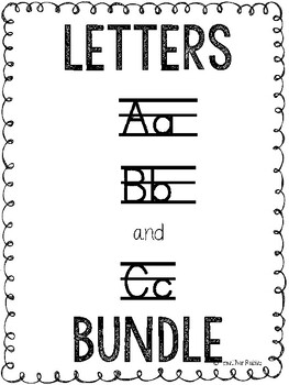 Letters A, B, and C Activities and Printables *BUNDLE*