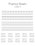 Letters A-D Writing Practice Worksheets