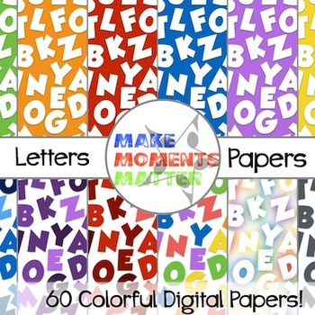 Letters  --  A Digital Paper Pack!