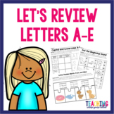 Letters A-E Pack