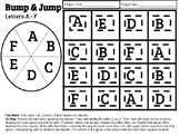 Letters A - F Bump & Jump Game