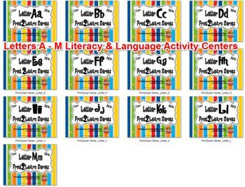 Letters A - M  Literacy & Language Activity Centers {COMMON CORE ALIGNED}