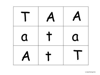 Letters A, T, M games for teaching and reviewing letters