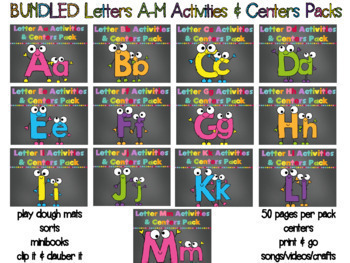 BUNDLED Letters A-M Mega Packs