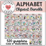 Letters A-Z Alphabet Clipart Bundle by Clipart That Cares