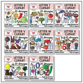 Alphabet Clipart Bundle Letters A-Z by Clipart That Cares