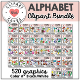Alphabet Clipart Bundle Letters A-Z by Clipart That Cares
