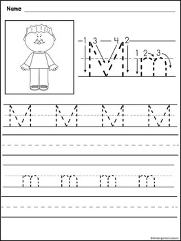 letters a z handwriting worksheets free by kindergarten couture tpt. Black Bedroom Furniture Sets. Home Design Ideas