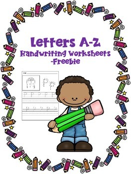 Letters A-Z Handwriting Worksheets -Freebie #kindnessnation