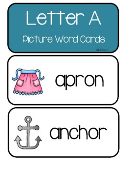 Letters A-Z   Picture Word Cards -     Over 250 Cards - Bundle