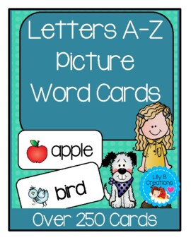 Letters A-Z   Picture Word Cards ~     Over 250 Cards ~ Bundle