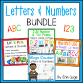 Letters A-Z and Numbers 0-20 Bundle
