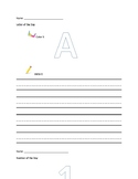 Letters A-Z and Numbers 1-100 Daily Practice