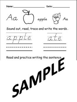 Letters A thru C Beginning Letter Sound Worksheets