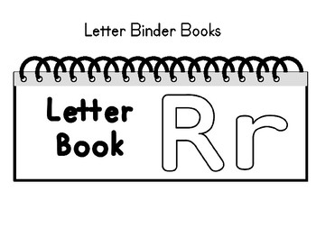 Letters Aa Thru Zz Binder Book BUNDLE