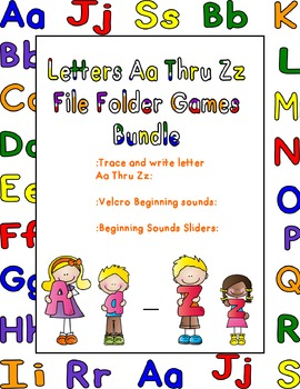 Letters Aa Thru Zz File Folder Games Bundle