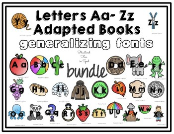 Letters Aa - Zz Adapted Book Bundle
