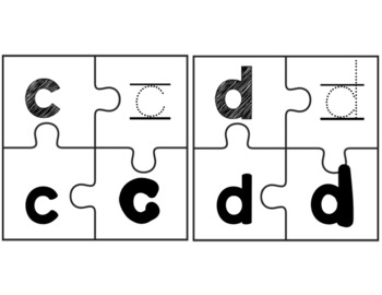 Letters Aa-Zz  Puzzle Cards
