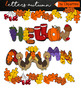 Autumn alphabet Clipart