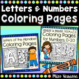 Letters And Numbers Coloring Pages Bundle