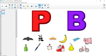 Letters B & P Sorting Activity (SMART Notebook)
