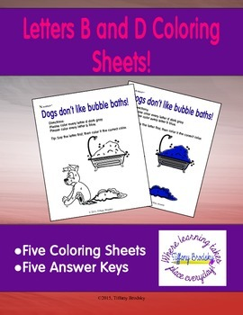 Letters B and D Coloring Sheets