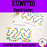 Letters BJZWVYXQ Board Game